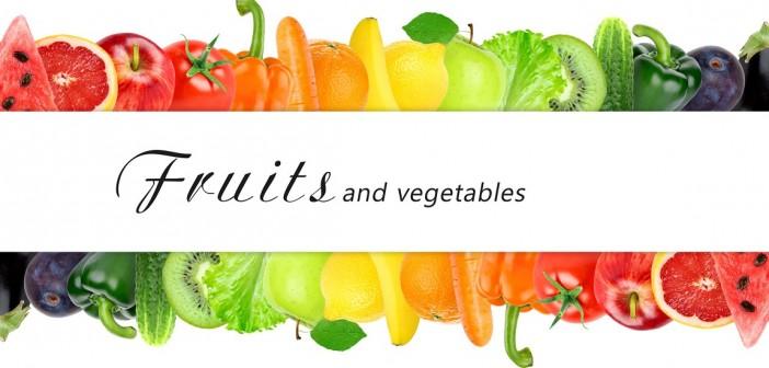 Frutas y verduras clasificadas por colores