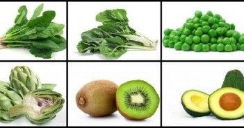 Surtido de Frutas y Verduras de Color Verde