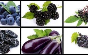 Surtido de Frutas y Verduras de Color Morado